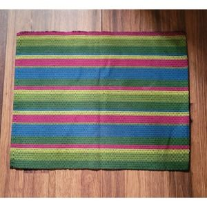 Set of 4-Crate and Barrel-Multi-Striped Placemats